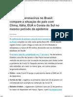 Coronavírus - em um mês, números no Brasil são alarmantes