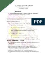 Test de Retroalimentación Capítulo 3 y 4 Ministerio de La Bondad