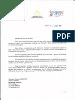 Lettre au premier ministre demandant le maintien du second tour des élections municipales le 22 mars