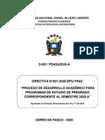 Directiva N° 01-2020-DESARROLLO SEMESTRE 2020-A - VERSIÓN 1.0.pdf