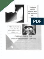 Open Doors Evangelism in the CPC