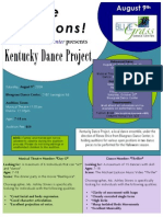 Open Audition Flyer