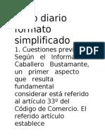 Libro diario formato simplificado