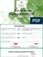 Indice Riesgo Municipal - Covid 19