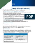 ENG - Partner Visa - Subclass 309 and 100 - Application Checklist
