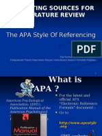 APA reference list format
