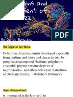 the origins and development of jazz