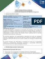 Syllabus del curso Formulación y Evaluación de Proyectos de Ingeniería-1