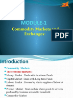 Module – I Commodity Markets and Exchanges (3)
