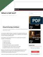 What is SAP ALV_ - SAPHub