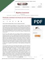 Resolução contratual nos tempos do novo coronavírus - Migalhas Contratuais