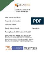 Selah National Cohort 10 Information Packet