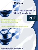 Clinical Management Kidney Transplantation