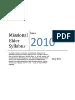 Missional Elder Syllabus