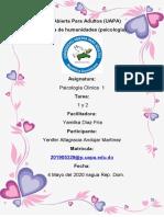 psicologia clinica 1 tarea 1 y 2
