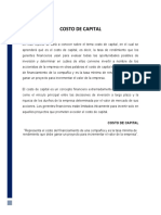 REPORTE COSTO DE CAPITAL