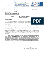 Letter from EMB