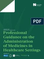 Admin of Meds prof guidance