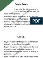 Buyer Roles