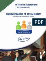 Administrador de restaurante