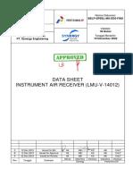 BELP-SPBEL-MS-EDS-F005-Rev 0  Data Sheet Instrument Air Receiver (LMU-V-14012) (Replace)