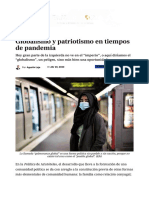 Globalismo y patriotismo en tiempos de pandemia