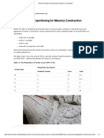 Mortar Mix Ratio Proportioning for Masonry Construction