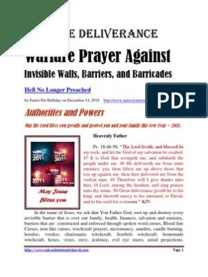 Prayer Against Invisible Walls | Satan | Last Judgment
