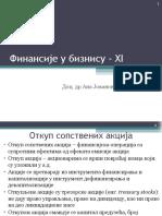 Finansije u biznisu - Predavanje 11
