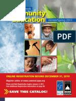 Community Education Catalog Winter/Spring 2011