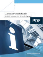 2016 RUMÄNIEN Rechtliche und steuerliche Rahmenbedingungen