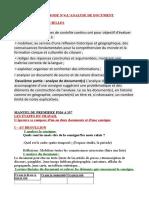 FICHE DE METHODE N°4 :ANALYSE DE DOCUMENTfiche de méthode n°4 analyse de document