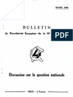 Bulletin du secrétariat européen de la IVe Internationale, N° 4, mars 1945, Discussion sur la question nationale