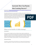 5 Questions Answered for parents to support online student success