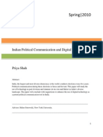 Indian Political Communication and Digital Technology