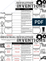 Industrial Revolution Inventions Hand Out