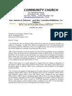 Letter From Reverend Johnson Reyes