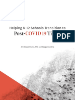 Helping K-12 Schools Transition to Post-COVID 19 Times 042120