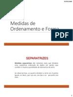 Medidas de Ordenamento e Forma