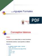 2. Conceptos básicos y Lenguajes Formales