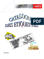 catalogue etiquettes GALIA