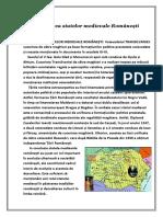 Formarea statelor medievale Românești