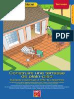 Construire une terrasse de plain-pied