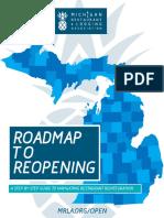 Roadmap to Reopen for Michigan restaurants