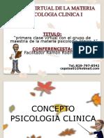 CHARLA VIRTUAL PARA LA MATERIA DE PSICOLOGIA CLINICA 1 (POST GRADO).pdf