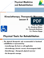 LEC 02 - Kinesiotherapy & Therapeutic Massage