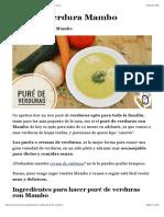 ✅ Puré de Verduras en Mambo || Receta Fácil ~ Yococino