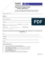Vendor Application (Not Dated)