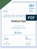 Climate Change International Legal Regime Certificate