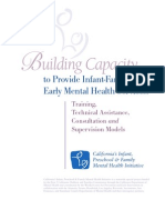 Building Capacity to Provide Infant Family MH Servces California